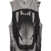 Tank Top with Photo Print - from H&M
