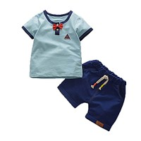 Boys Summer Clothing Set Children Tops T-shirt Shorts Clothes Suit Kids Boys Sport Suit for Baby Boys Clothing