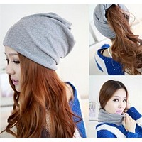 5 Colors Cotton Women Beanies Caps Spring Women Beanie Hat For Women Caps 3 Way To Wear Bonnet