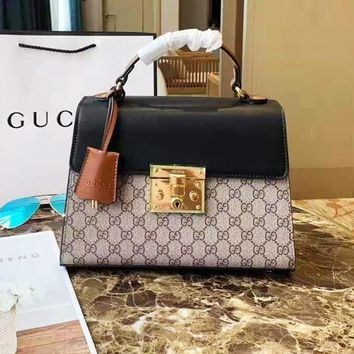 Gucci ladies casual wild color matching shoulder bag shopping bag