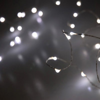 LED Fairy String Lights Battery Operated | White