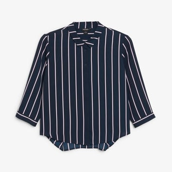 Button up blouse - Midnight hour - Tops - Monki GB