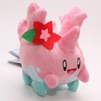 "Anime Cartoon Pokemon Plush Toys 5"" 13cm Sunnygo Corsola Kawaii Soft Stuffed Plush Doll Kids Toys Christmas Gift For Children"