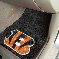 "NFL - Cincinnati Bengals 2-piece Carpeted Car Mats 18""x27"""