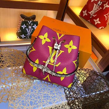 LV Louis Vuitton OFFICE QUALITY MONOGRAM CANVAS NEONOE BUCKET SHOULDER BAG