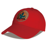Red Cactus Embroidered Cotton Hat Outdoor Baseball Cap