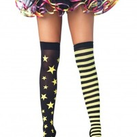 Stars Mismatched Roller Derby Stockings (Thigh High) *New* - Dress Derby