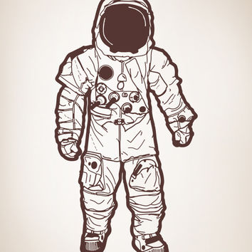 Vinyl Wall Decal Sticker Astronaut #OS_AA173
