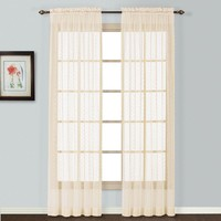 United Curtain Co. Charlotte Lace Window Panel - 56'' x 84''