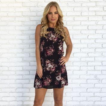 Bundles Of Floral Shift Dress