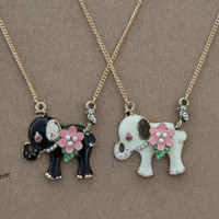 elephant necklace,animal necklace,short necklace,snake,bridesmaids wedding gift,personalized love gift,besties sisiters gift