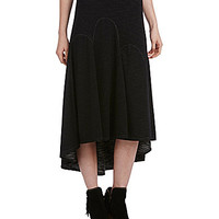Chelsea & Violet French Terry Midi Skirt - Black/White