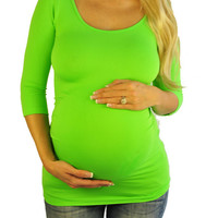 Neon Maternity Tops-Bright From The Start