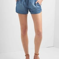 Tencel® denim dolphin shorts | Gap