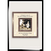 "A Friend Is One Of The Nicest Things You Can Have 3""x 3"" Copper & Glass Photo Frame"