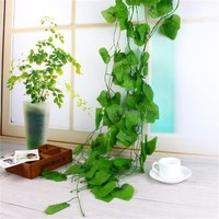 2.4 meter Artificial Plants Grape Leaves Vines Fake Plant Grass for Wedding Party Home Decoration Gift Graft DIY Hanging