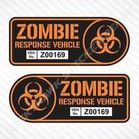 Zombie Response Vehicle Sticker Set Vinyl Decal Walking Dead Car Truck JDM Decal