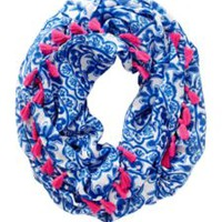 Riley Tassel Infinity Loop Scarf - Pooling Around - Lilly Pulitzer