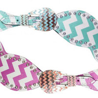 Saddles Tack Horse Supplies - ChickSaddlery.com Showman Chevron Print Ladies Spur Straps