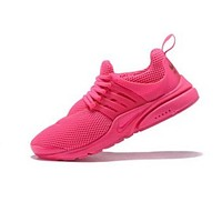 Nike Air Presto Fashion Women Men Comfortable Breathable Sport Running Shoe Sneakers Rose Red I