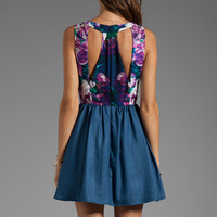 Keepsake Whole Lotta Love Dress in Navy Mirrored Floral Print from REVOLVEclothing.com
