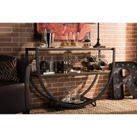 Baxton Studio Blakes Industrial Distressed Wood Console Table   Overstock.com Shopping - The Best Deals on Coffee, Sofa & End Tables