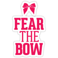 Fear the Bow Magenta Red Pink