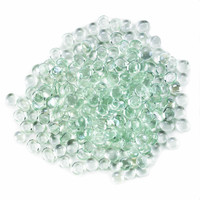 Two Pounds Clear Flat Marbles