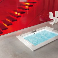 Design 2 seater whirlpool rectangular bathtub vasca SENSE DUAL elysium Collection by NOVELLINI | design Novellini design