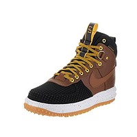 Nike Mens Lunar Force 1 Duckboot Black/Dark Loden-Bright Crimson Leather