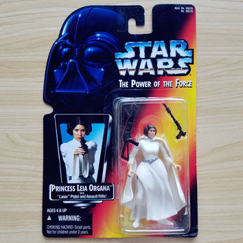 """The power of the force Star Wars Rare Collection 3.75""""Action Figure Carrie Fisher Princess Leia organa with weapons S1K"""