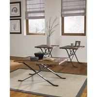 Freimore 3-Piece Occasional Table Set in Brown and Black | Nebraska Furniture Mart