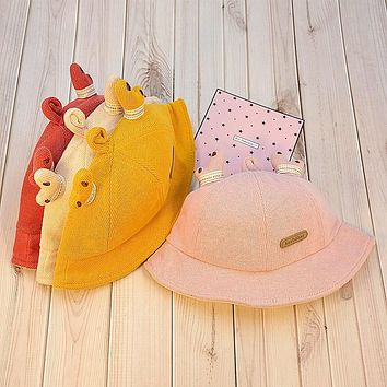 Children's Autumn And Winter Fisherman Hat Boys Keep Warm Baby Hats For Boys And Girls Cute Autumn Hats