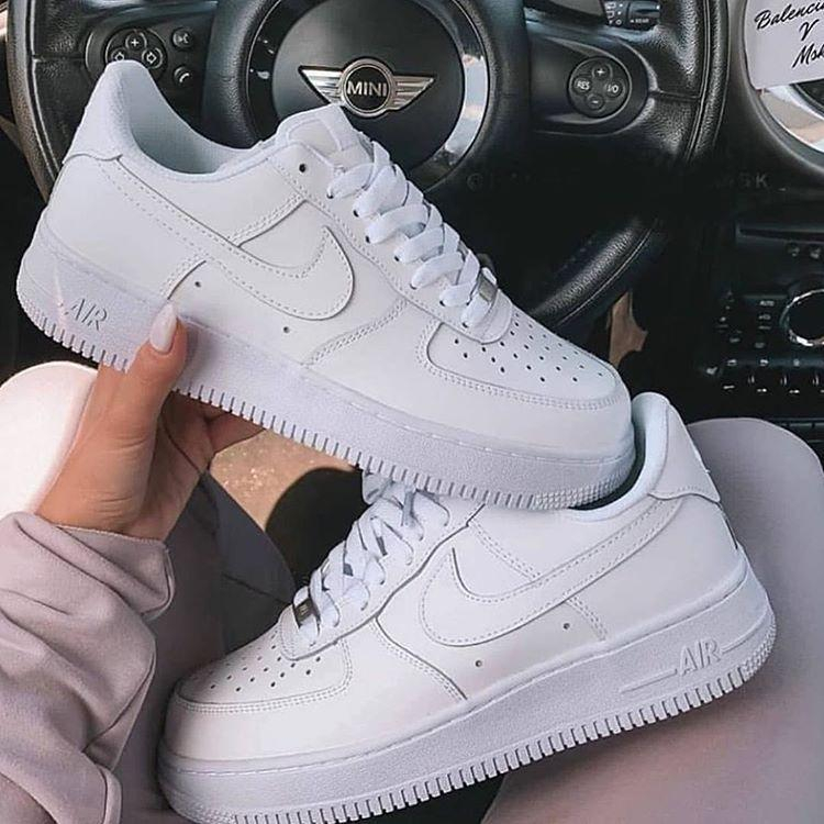 Image of Nike Air Force 1 AF1 Low Triple White Classic Sneakers Shoes