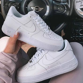 Nike Air Force 1 AF1 Low Triple White Classic Sneakers Shoes