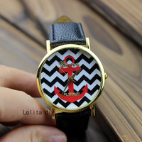 Iron anchor watches - Geneva watches, men's watch female table, the best friendship gift,
