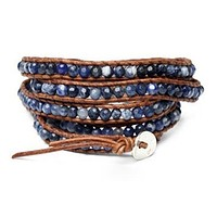 Navy Blue Wrap Bracelet