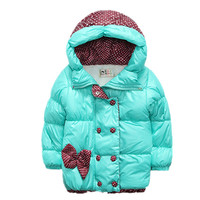 New Children Coat Minnie Baby Girls winter Coats long sleeve coat girl's warm Baby jacket Winter Outerwear cartoon fleece