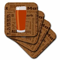 Janna Salak Designs Food and Drink - Beer Lover Series Shaker - set of 4 Coasters - Soft (cst_217260_1)