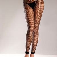 Spandex Net Footless Tights  - One Size  Bw-597b