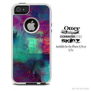 The Abstract Oil Painting V3 Skin For The iPhone 4-4s or 5-5s Otterbox Commuter Case