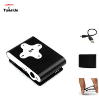 Factory Price Mini Clip Metal USB MP3 Player Support 32GB Micro SD TF Card Slot Digital mp3 music player Z0