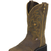 Justin Gypsy Bay Apache Perfed Saddle Vamp Cowgirl Boots L9969