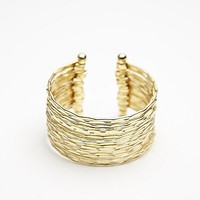Free People Womens Hammered Stacked Multi Cuff
