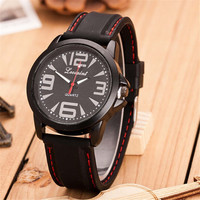 Mens Outdoor Sports Silicone Strap Watch Best Christmas Gift