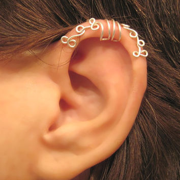 """No Piercing """"Curling Ivy"""" Ear Cuff for Upper Ear 1 Cuff COLOR CHOICES Wedding, Prom, Quinceanera"""