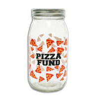 Pizza Fund Mason Jar Coin Bank