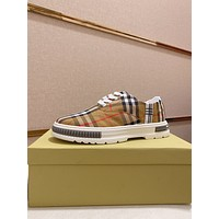 BURBERRY2021  Men Fashion Boots fashionable Casual leather Breathable Sneakers Running Shoes06250pp