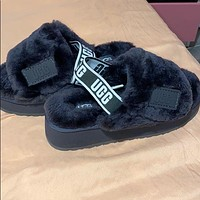 UGG hot sale new style plush thick-soled high cotton slippers fashion ladies winter cotton shoes