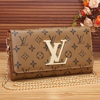 Perfect LV Women Shopping Leather Chain Satchel Shoulder Bag Crossbody